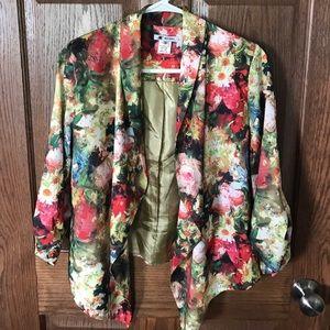 Watercolor floral blazer.