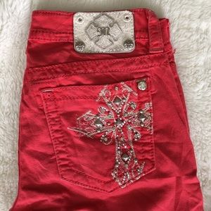 """Miss Me Red Skinny Jeans size 28x29.5"""""""
