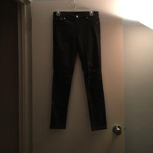 Dark hunter green skinny jeans