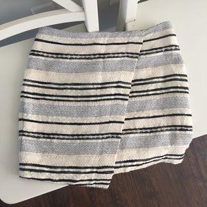 Faux Wrap Mini Skirt