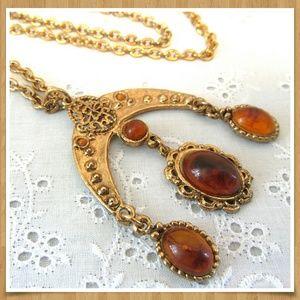 """Vintage 1970's Pendant Necklace 22"""""""