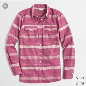 J. Crew Striped Flannel Button down