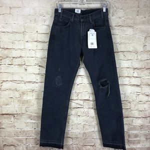 Levi 505 C Cropped Distressed Blue Jeans Size 26