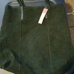 Merona large suede tote black bag
