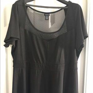 Torrid Black Peplum Top Size: 3