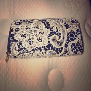 Black & White Lace Wallet