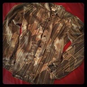 1980s Vintage Natalie brand button down blouse