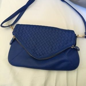 Royal blue cross body purse