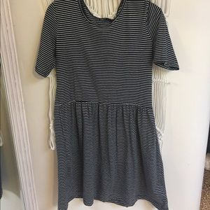 Navy & white stripe dress.