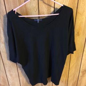 Gap Women's LRG Black 100% Cotton Scoopneck Top