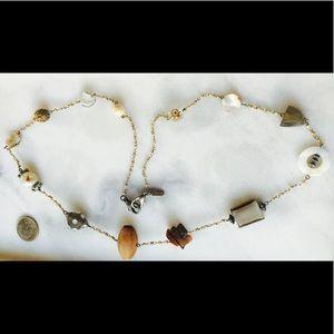 Treska Long Natural Beaded Necklace