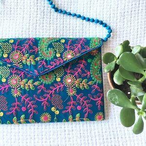 Stitched & Embroidered Envelope Bag