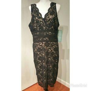 Gorgeous Ronni Nicole Black Lace Size 14 Dress