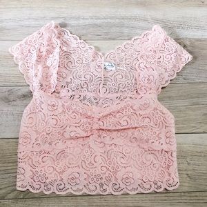 NWOT Free people pink lace bralette. Never used