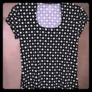 Black and white polka dot tee by race