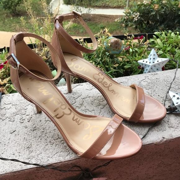 204639250492 Sam Edelman Nude Patti Ankle Strap Sandal. M 59c6a523680278213207c322