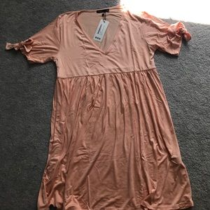 Boohoo tie sleeve dress sz 12
