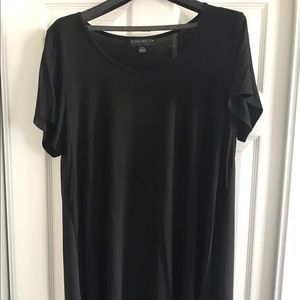 Forever 21+ Plus Size Hi Low Top in Black Size: 2