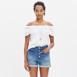 Madewell off-the-shoulder top NWOT