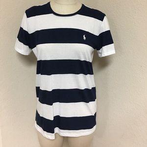NWT Ralph Lauren navy and white striped tshirt.