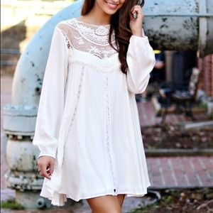 Southern Fried Chics White Lace Dress Size S