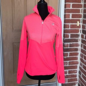 Pink Adidas polo over with thumbholes