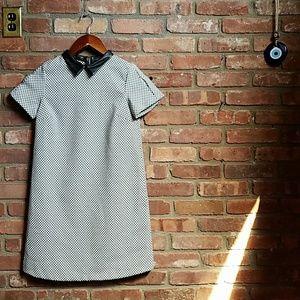 Zara Basic Houndstooth Dress XS