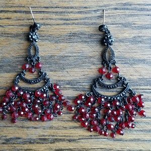 Jewelry - Red Chandelier Earrings