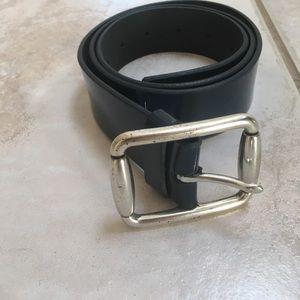 Gap Blue Leather Belt Size Small