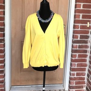 Yellow large cardigan sweater