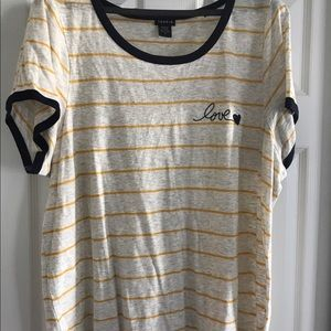 Torrid T-Shirt with 'love' - Size: 2