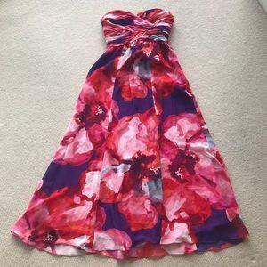 Lauren by Ralph Lauren pink purple red Floral Gown