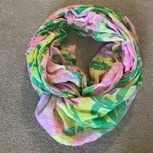 Lily Pulitzer- Floral scarf with sequin detail