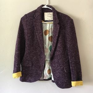 Anthropologie Cartonier cotton blazer S