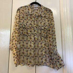 (Mango) silk patterned shirt size Large