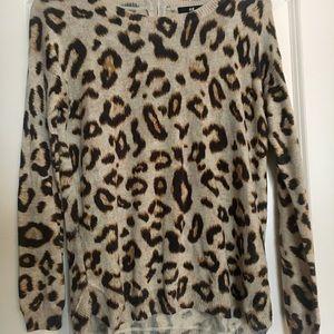 H&M Cheetah Sweater