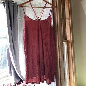 Strappy shoulder dress