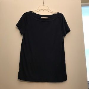 Navy boat neck top from LOFT
