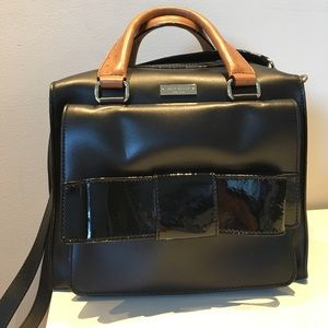 Black leather kate spade bag with bow