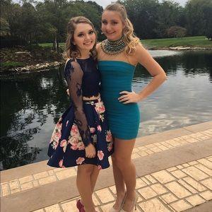Sherri Hill Dresses - Sherri Hill Turquoise Dress