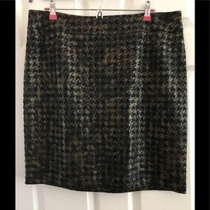 Tribal Metallic Houndstooth Skirt
