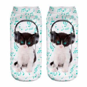 Music Kitty Socks