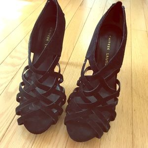 Chinese laundry black stilettos