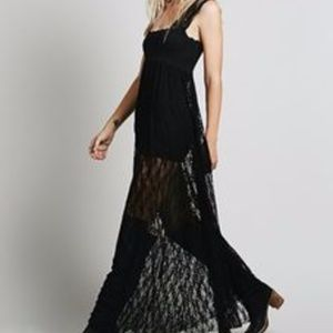 Free People Black Lace Maxi Dress – MEDIUM - NWT