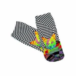 Colorful Kitty Socks