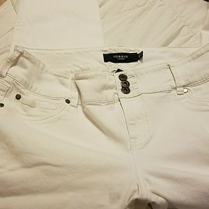 White Torrid Jeggings