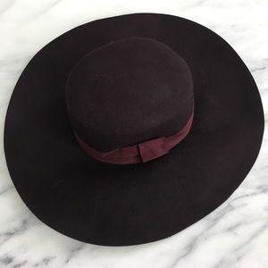 H&M Burgundy Oversized Hat