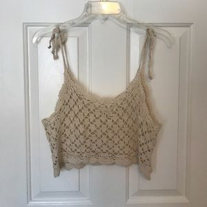 Crochet top - perfect as a cover up