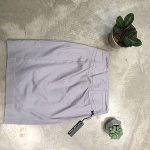 Gray pencil skirt from Express