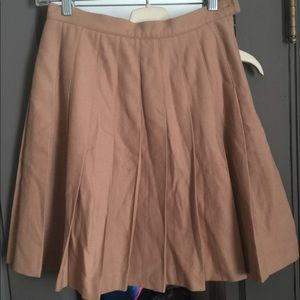J Crew pleated Wool Skirt